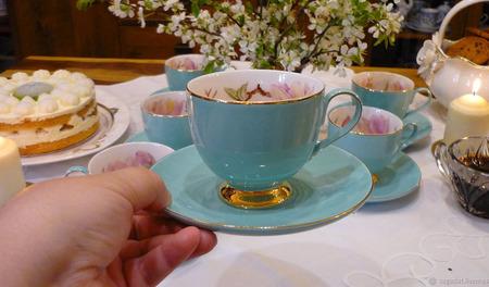 """Чайный сервиз """"Лазурный берег"""" ручной работы на заказ"""