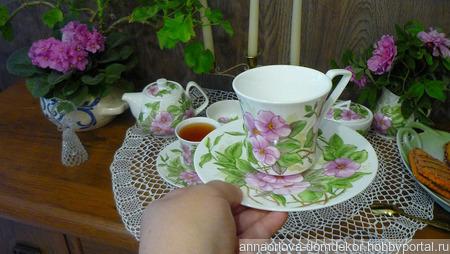 """Чайный сервиз на двоих """"Как в старину"""" ручной работы на заказ"""