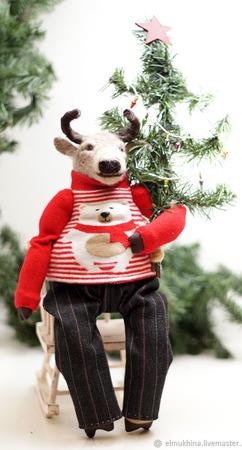 Новогодний подарок - корова или бык ручной работы на заказ