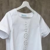 Блузка белая с люверсами, хлопок