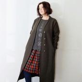 Пальто демисезонное оверсайз, лоден, шерсть