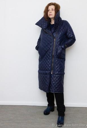 """Пальто женское стёганое """"Франсиска"""" ручной работы на заказ"""