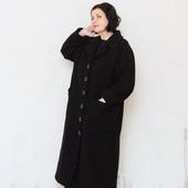 Пальто пиджак длинное оверсайз, шерсть