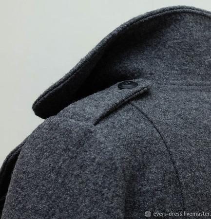 """Зимнее пальто дафлкот """"Марселла"""", шерсть ручной работы на заказ"""