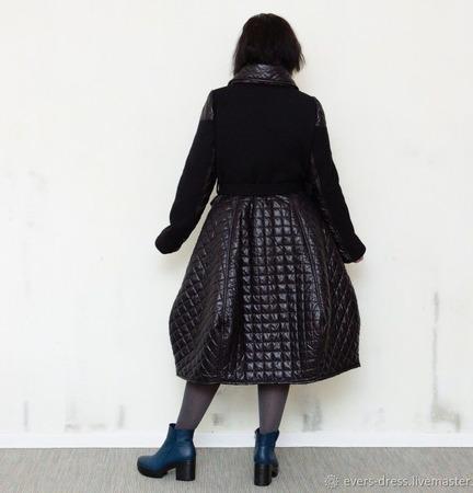 """Пальто """"Тюльпан"""", стёганое, с утеплителем ручной работы на заказ"""