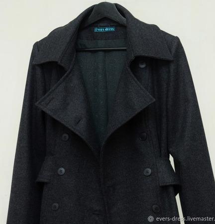 Пальто демисезонное Редингот, шерсть ручной работы на заказ