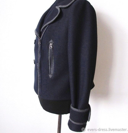 Пальто демисезонное Бушлат, шерсть ручной работы на заказ