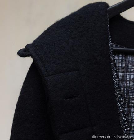 Пальто зимнее реглан Ингрид, шерсть ручной работы на заказ