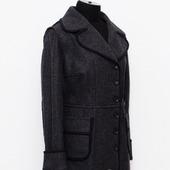 Пальто демисезонное с открытыми срезами Жаклин, лоден, шерсть