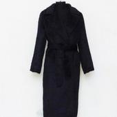 Зимнее пальто-халат из альпаки
