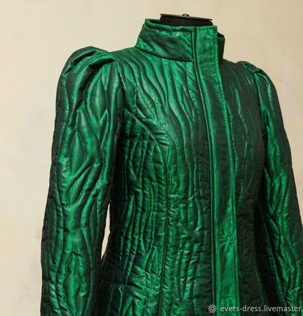 Пальто зимнее стёганное Хозяйка медной горы ручной работы на заказ