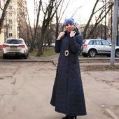 Пальто зимнее длинное, с капюшоном Северный ветер