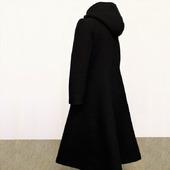 Пальто зимнее длинное, с широкой юбкой, шерсть