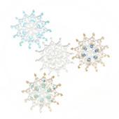 Звёздочка-снежинка из бусин и бисера