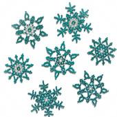 Снежинки из бисера цвета капри