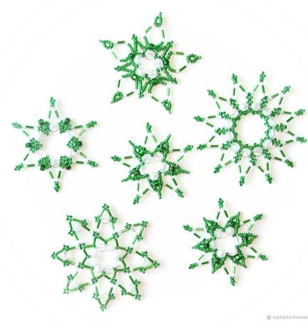 """Снежинки-звёздочки """"Новогодняя сказка """" (набор из 6 шт.) ручной работы на заказ"""