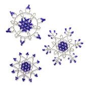 Снежинки из бисера (набор из 3 шт.)
