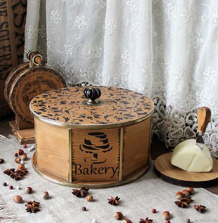 """Хлебница/короб из кедра """"Любимый дом"""" ручной работы на заказ"""