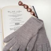 """Перчатки вязаные женские """"Классика"""" из мериноса и альпака"""