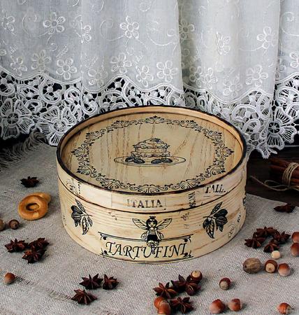 """Хлебница/ короб для сладостей из ясеня """"Tartufini"""" ручной работы на заказ"""