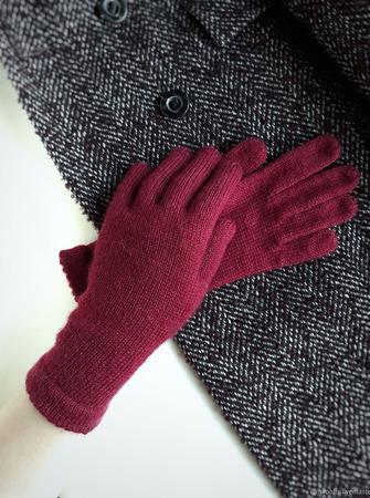 """Перчатки вязаные женские """"PN"""" из мериноса ручной работы на заказ"""
