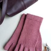 """Перчатки вязаные женские """"Old rose"""" из мериноса и альпака"""