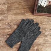 """Перчатки вязаные женские """"Агат"""" из мериноса и альпака"""