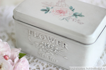 """Короб для чая """"Flower studio"""" ручной работы на заказ"""