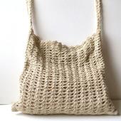 Сумка через плечо: сумка, связанная из льна