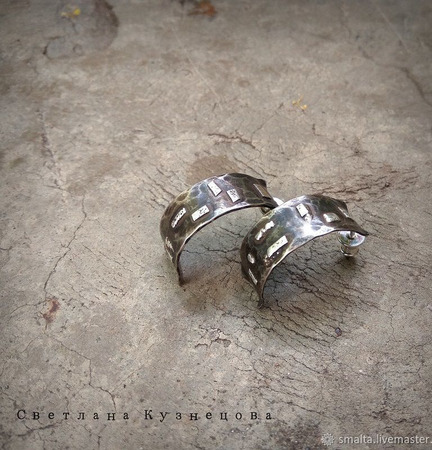 Серьги мельхиор серебро ручной работы на заказ
