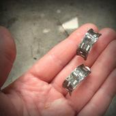 Серьги мельхиор серебро