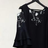 """Платье чёрное с открытыми плечами """"Маргарита"""""""