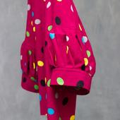 """Блузка розовая, с бантом """"Монпансье"""""""