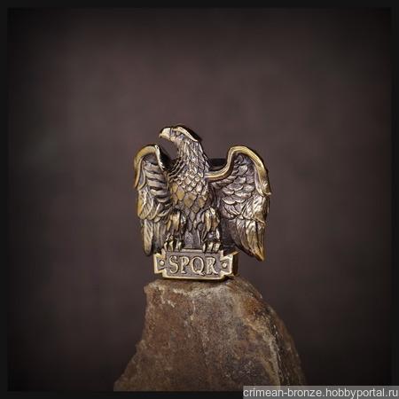 """Бусина """"Орел Цезаря"""" для темляков или браслетов , латунь ручной работы на заказ"""