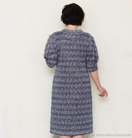 """Платье с пайетками """"Серебро"""", шерсть ручной работы на заказ"""
