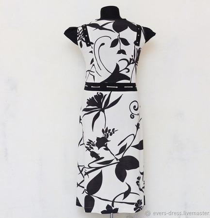 """Платье летнее миди """"Цветок папоротника"""", вискоза ручной работы на заказ"""