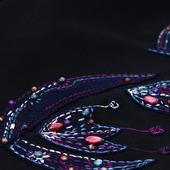 """Джемпер оверсайз с вышивкой """"Ночные цветы"""", шерсть"""