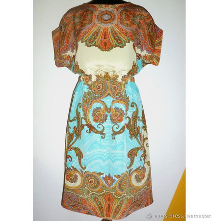 """Платье из натурального шёлка """"Восточные сказки"""" ручной работы на заказ"""