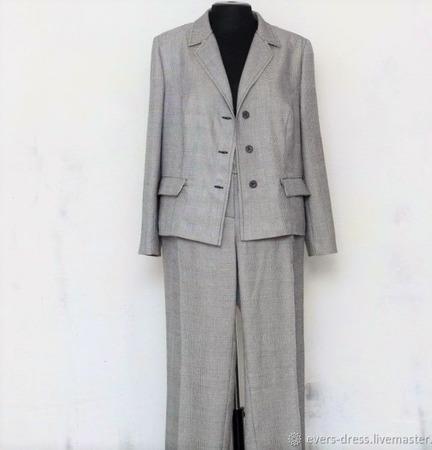 Пиджак в виндзорскую клетку, шерсть ручной работы на заказ