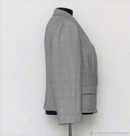 """Костюм пиджак и брюки """"Клетка"""", шерсть ручной работы на заказ"""