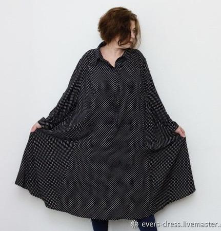 """Платье-рубашка """"Фелипа"""", хлопок ручной работы на заказ"""