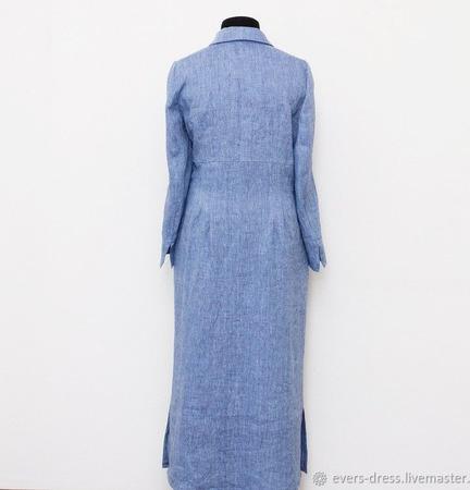 """Платье с завышенной талией """"Анита"""", лён ручной работы на заказ"""