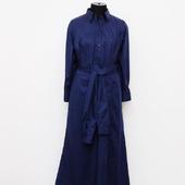 """Платье-рубашка """"Ночное небо"""", двойные рукава, хлопок"""