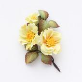 """Желтая брошь с цветами """"Ветка азалии"""""""