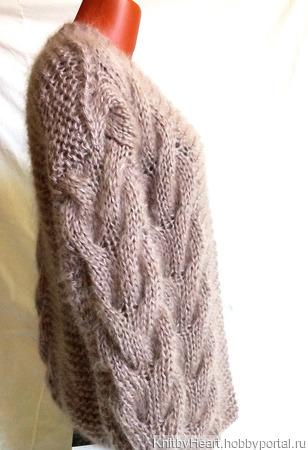 Кардиган из мохера ручной работы в Москве ручной работы на заказ