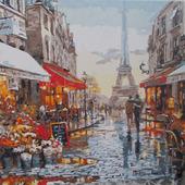 "Картина по номерам ""Улочка Парижа"""