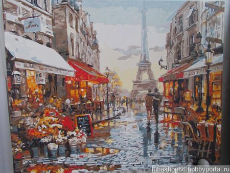 "Картина по номерам ""Улочка Парижа"" ручной работы на заказ"