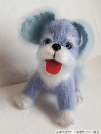 Голубой щенок ручной работы на заказ