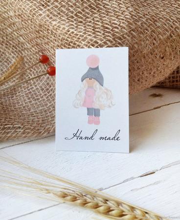 """Бирочки для изделий """"Hand Made"""" ручной работы на заказ"""