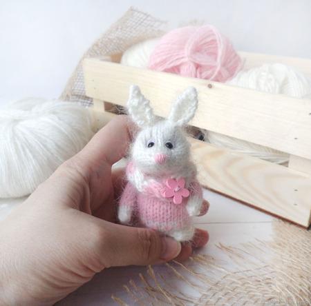 Интерьерная игрушка Мини Кролик ручной работы на заказ
